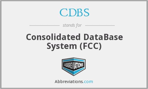 What does CDBS stand for?