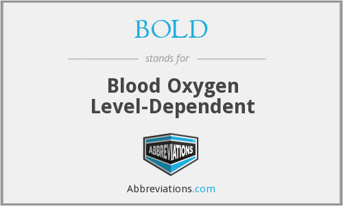 BOLD - blood oxygen level-dependent