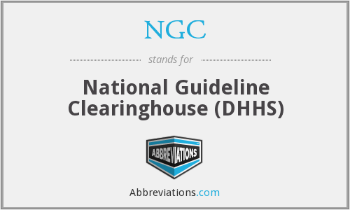 NGC - National Guideline Clearinghouse (DHHS)