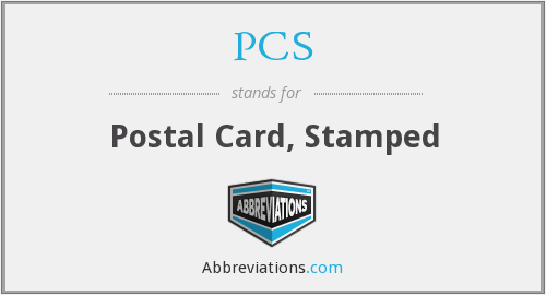 PCS - postal card, stamped
