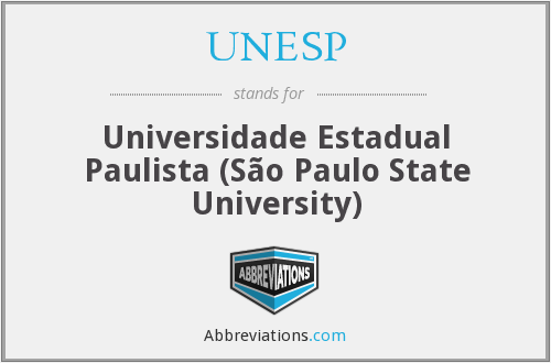 What does UNESP stand for?