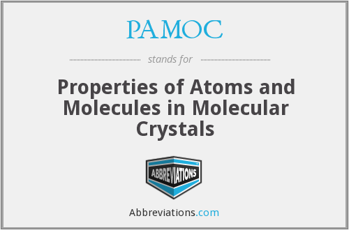 PAMOC - Properties of Atoms and Molecules in Molecular Crystals