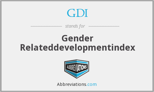 GDI - Gender Relateddevelopmentindex