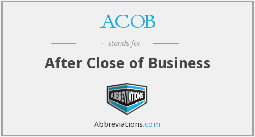 What does ACOB stand for?