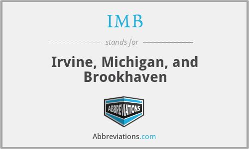 IMB - Irvine, Michigan, and Brookhaven