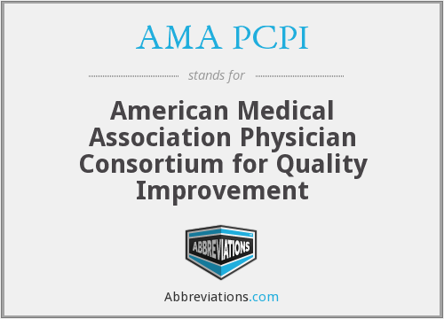 What does AMA PCPI stand for?