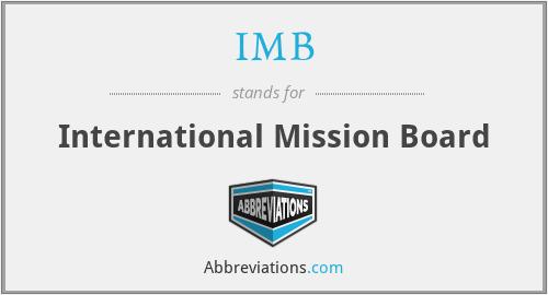IMB - International Mission Board