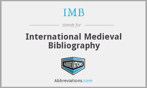 IMB - International Medieval Bibliography