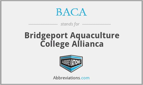 BACA - Bridgeport Aquaculture College Allianca