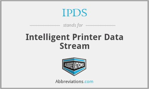IPDS - Intelligent Printer Data Stream