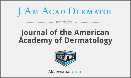 What does J AM ACAD DERMATOL stand for?