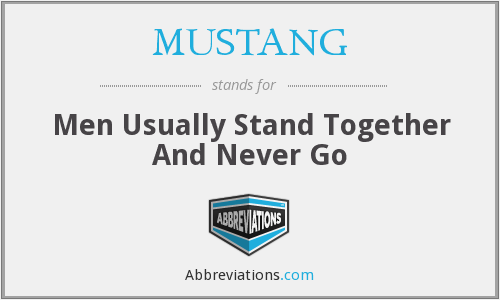 MUSTANG - Men Usually Stand Together And Never Go