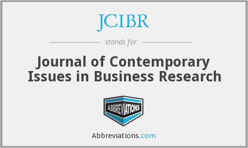 What does JCIBR stand for?