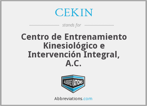 What does CEKIN stand for?