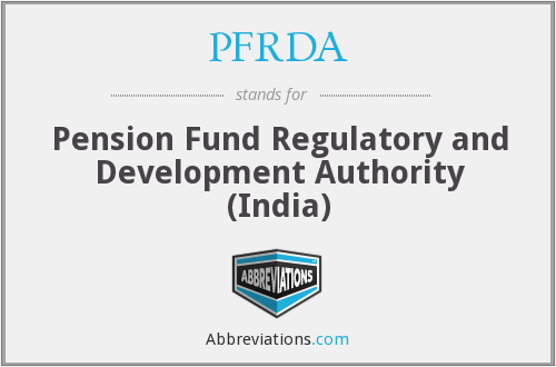 What does PFRDA stand for?