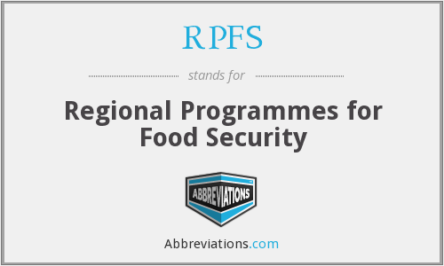 RPFS - Regional Programmes for Food Security