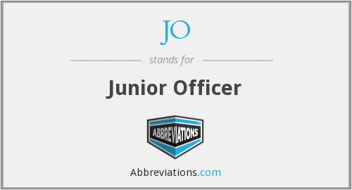 JO - Junior Officer