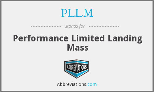 PLLM - Performance Limited Landing Mass
