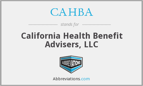 CAHBA - California Health Benefit Advisers, LLC