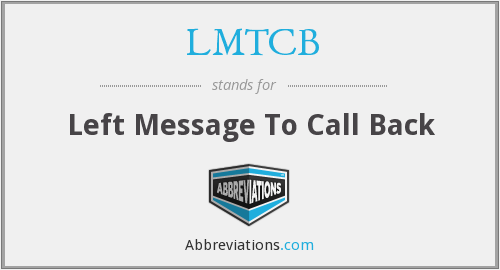 What does LMTCB stand for?