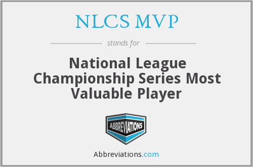 NLCS MVP - National League Championship Series Most Valuable Player