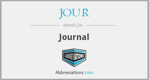 JOUR - Journal