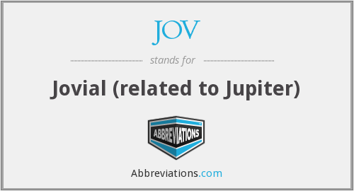 What does jovial stand for?