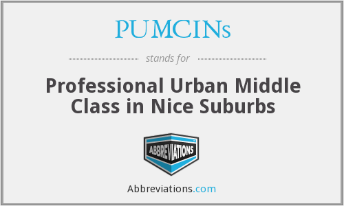 PUMCINs - Professional Urban Middle Class in Nice Suburbs