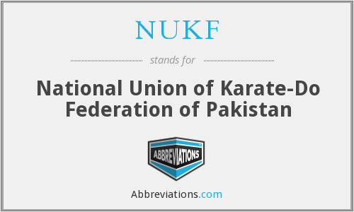 NUKF - National Union of Karate-Do Federation of Pakistan