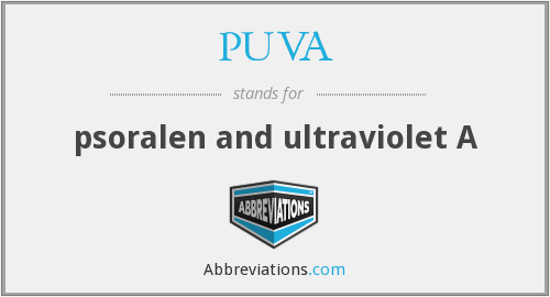 What does PUVA stand for?