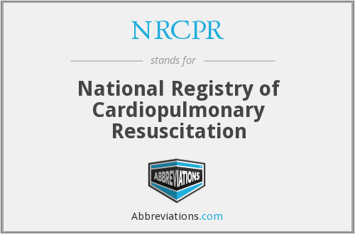 What does NRCPR stand for?