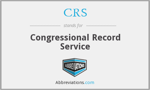 CRS - Congressional Record Service