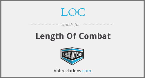 LOC - length of combat