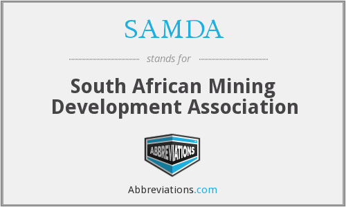 SAMDA - South African Mining Development Association