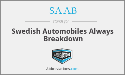 SAAB - Swedish Automobiles Always Breakdown