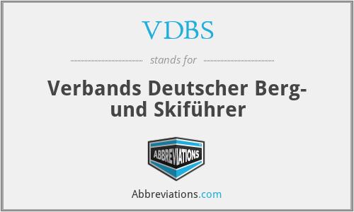 VDBS - Verbands Deutscher Berg- und Skiführer