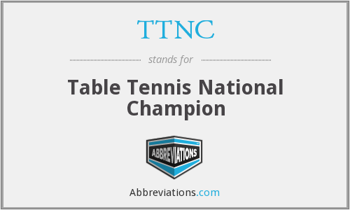 TTNC - Table Tennis National Champion