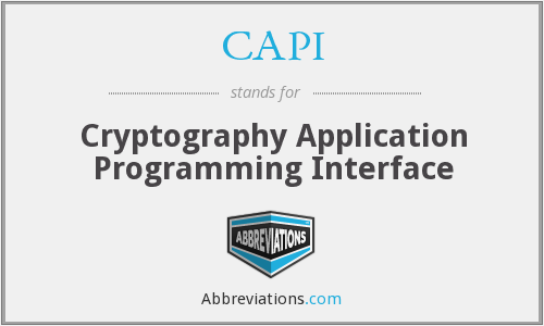 CAPI - Cryptography Application Programming Interface