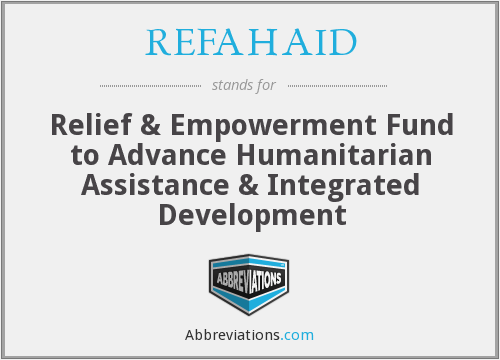 What does REFAHAID stand for?