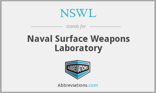 What does NSWL stand for?