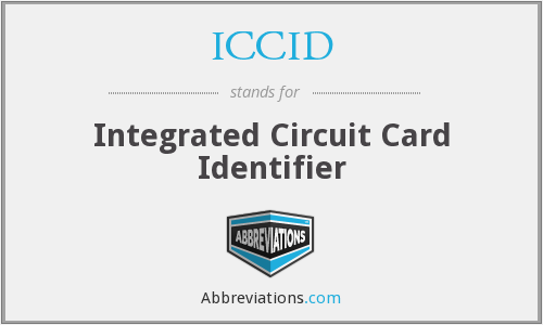 ICCID - Integrated Circuit Card Identifier
