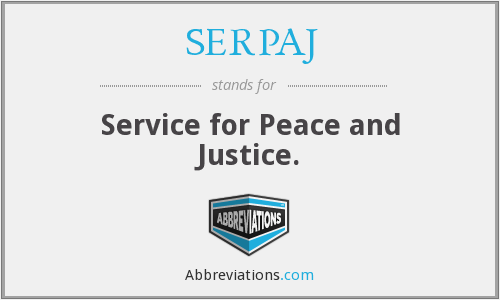 SERPAJ - Service for Peace and Justice.