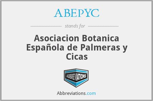 ABEPYC - Asociacion Botanica Española de Palmeras y Cicas