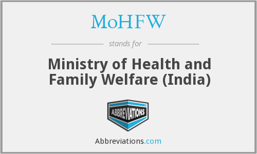 What does MOHFW stand for?