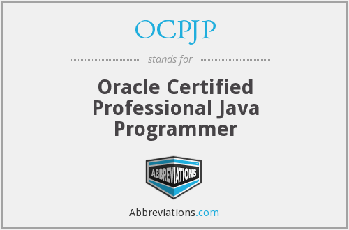 OCPJP - Oracle Certified Professional Java Programmer