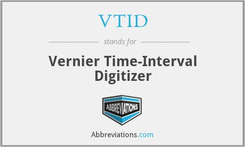 VTID - Vernier Time-Interval Digitizer
