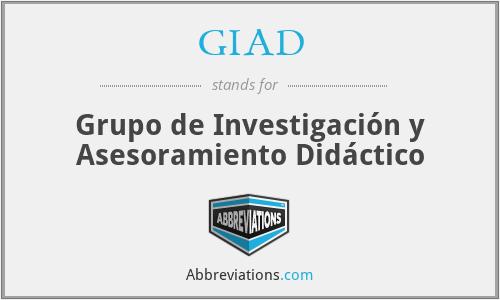 GIAD - Grupo de Investigación y Asesoramiento Didáctico