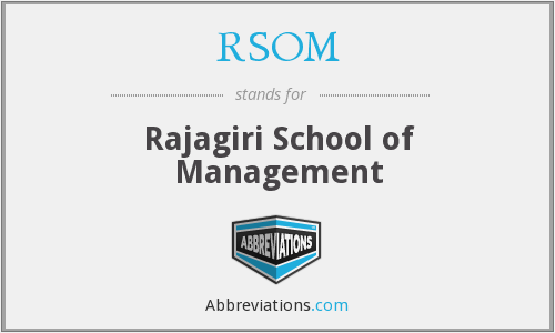 What does RSOM stand for?