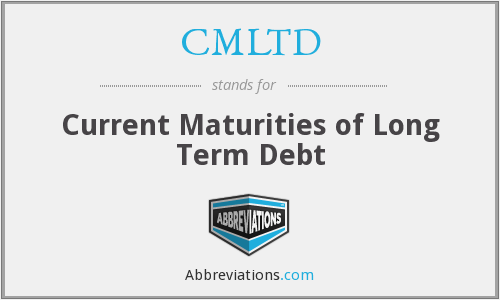 CMLTD - Current Maturities of Long Term Debt