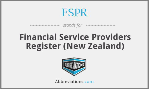 FSPR - Financial Service Providers Register (New Zealand)